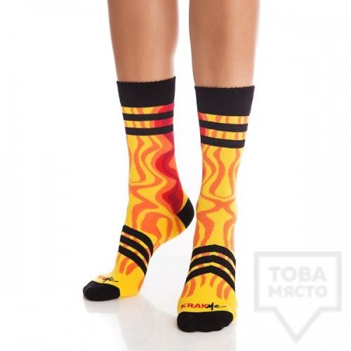 Дамски къси чорапи KrakMe - Fire follow me