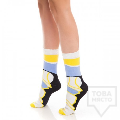 Дамски къси чорапи KrakMe - Havana futuristic blue short