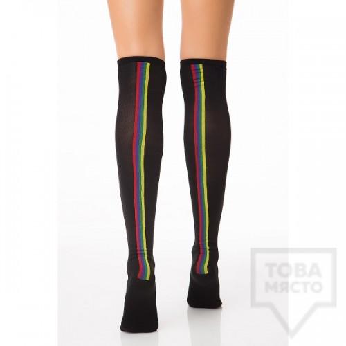 Дамски дълги чорапи KrakMe - Four Lines