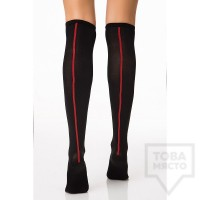 Дамски дълги чорапи KrakMe - Hot Line Black