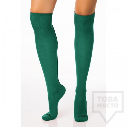 Дамски дълги чорапи KrakMe - Hot Line Green