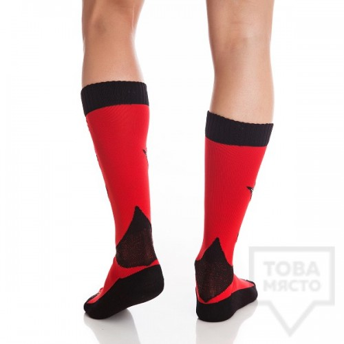 Мъжки дълги чорапи KrakMe - Art Shock red