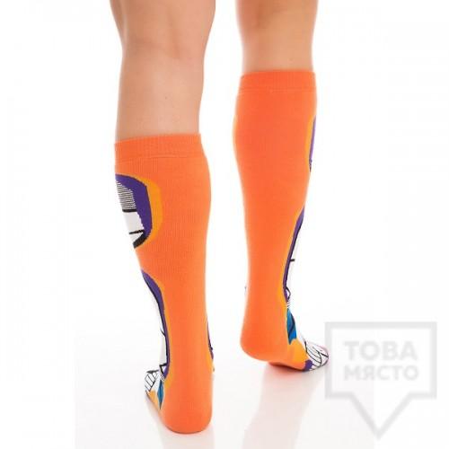 Мъжки дълги чорапи KrakMe - Orange Stripper