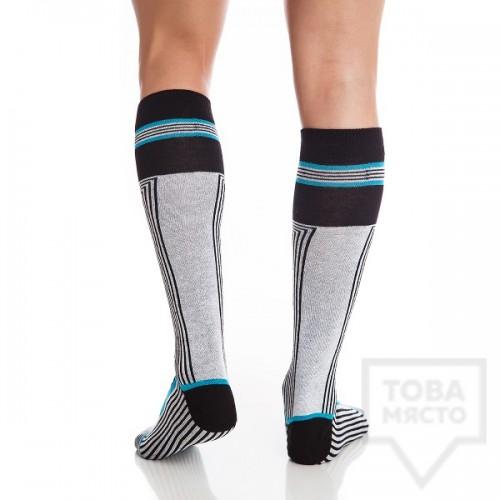 Мъжки дълги чорапи KrakMe - Sky Trace