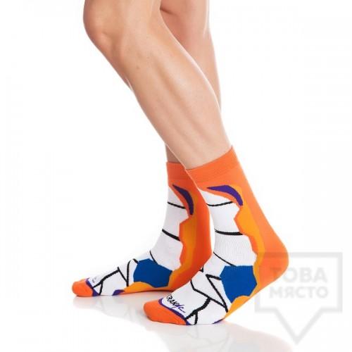 Мъжки къси чорапи KrakMe - Orange Stripper