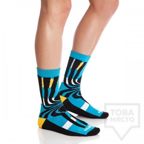 Мъжки къси чорапи KrakMe - Tequila Sunrise Blue