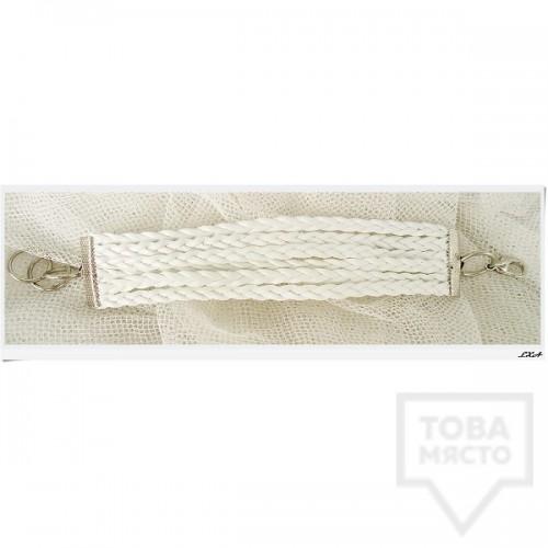 Дизайнерска гривна LXA - White Knots