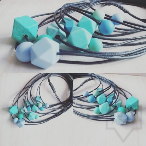 Ръчно изработено колие Lollipop - Blue passion