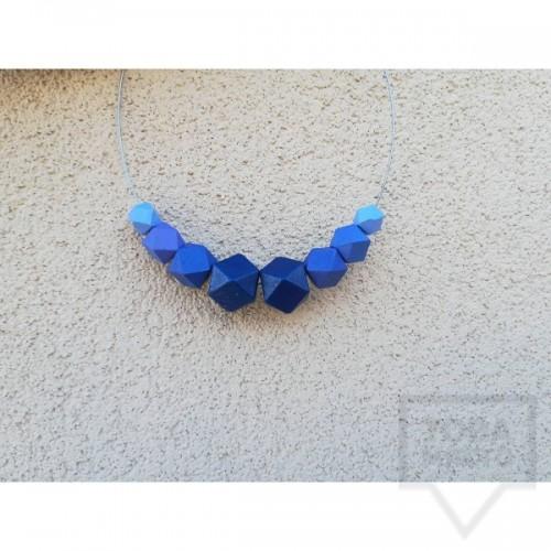 Ръчно изработено колие Lollipop - Blue Symphony