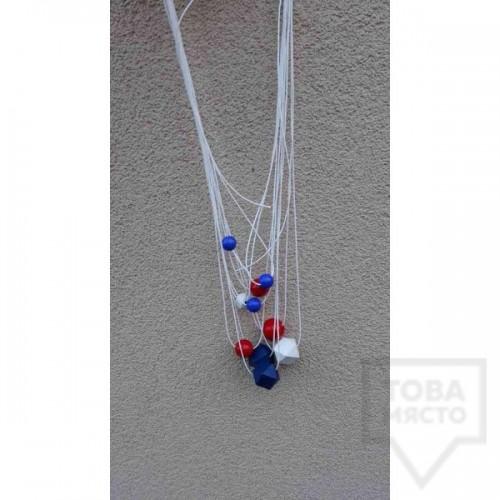 Ръчно изработено колие Lollipop - White