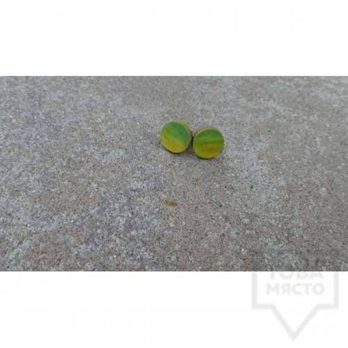 Дървени обеци Lollipop - colorful
