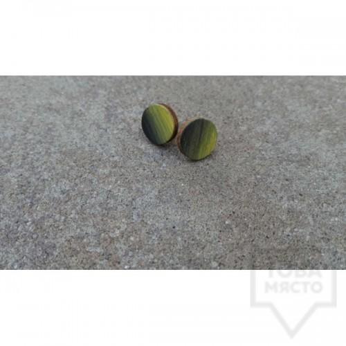 Дървени обеци Lollipop - Изгрев