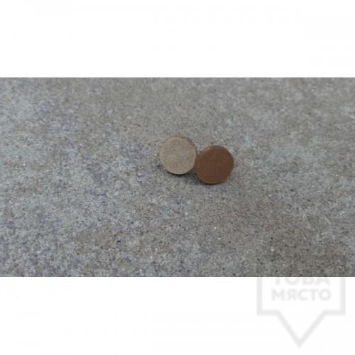 Дървени обеци Lollipop - Канела