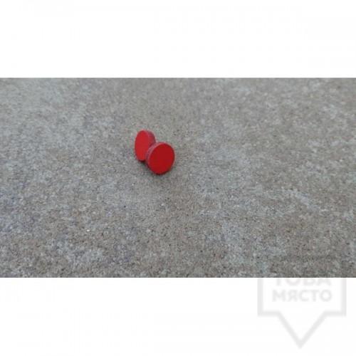 Дървени обеци Lollipop - Корал