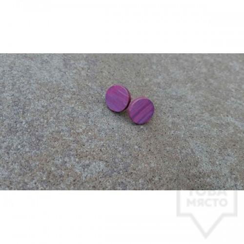 Дървени обеци Lollipop - Лилави