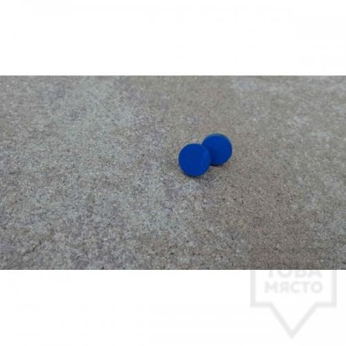 Дървени обеци Lollipop - Море