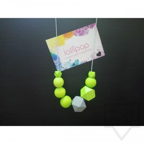 Ръчно изработено колие Lollipop - дървени топчета и въже