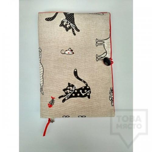 Ръчно изработена подвързия за книга - Marchella's Art - Котки