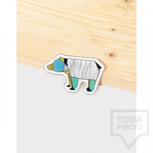Брошка Mihha - Origami Bear