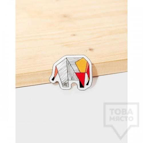 Брошка Mihha - Origami Elephant