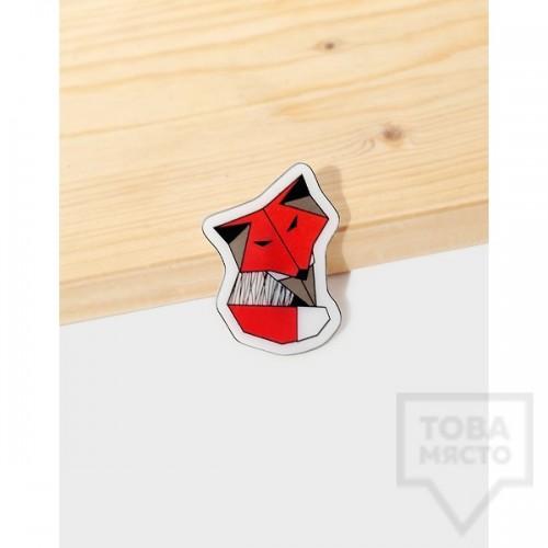 Брошка Mihha - Origami Fox
