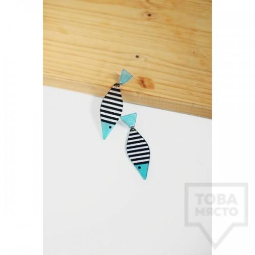 Дизайнерски обеци Mihha - Blue Fishes