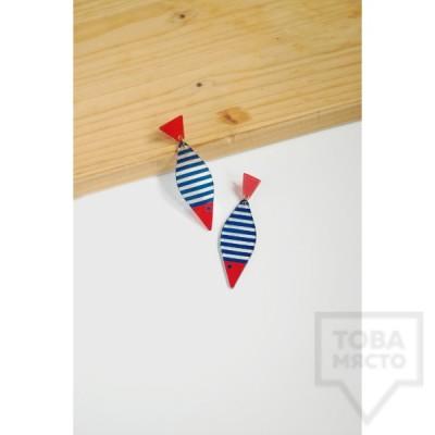 Дизайнерски обеци Mihha - Fishes
