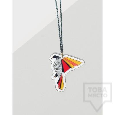 Дизайнерско колие Mihha - Origami Perroquet