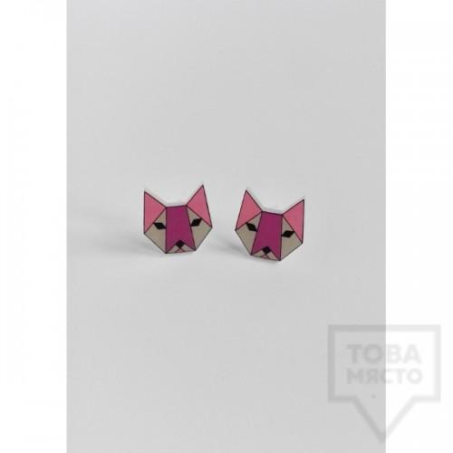 Дизайнерски обеци Mihha - cats