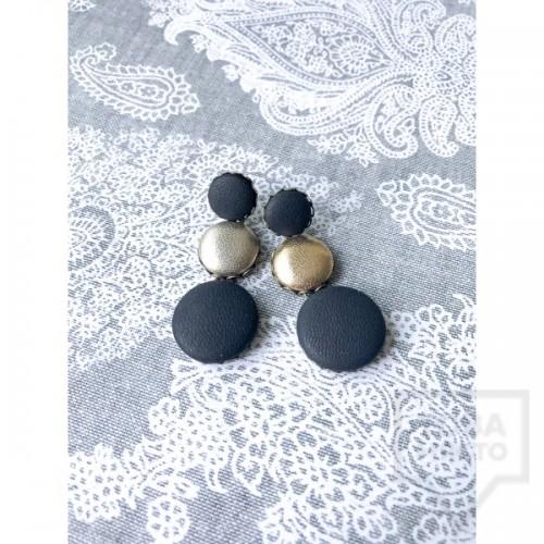 Дизайнерски обеци Nadya's Knit - Ърбан стил