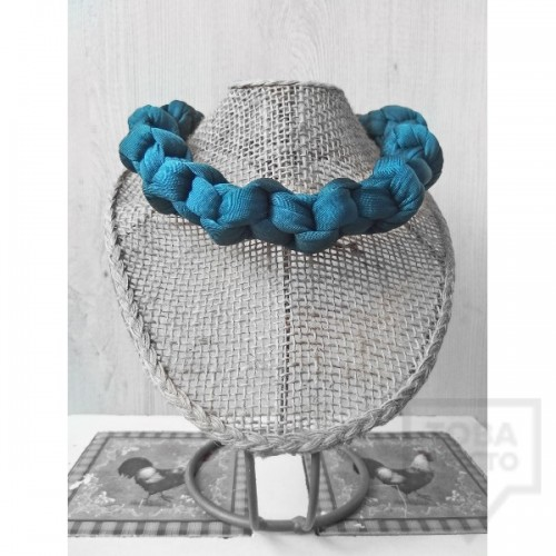 Ръчно изработено колие Nadya's Knit - Петрол