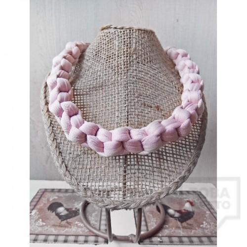 Ръчно изработено колие Nadya's Knit - Пинк