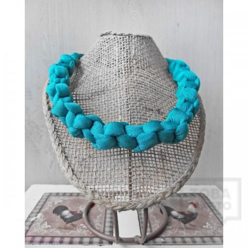 Ръчно изработено колие Nadya's Knit - Тюркоаз