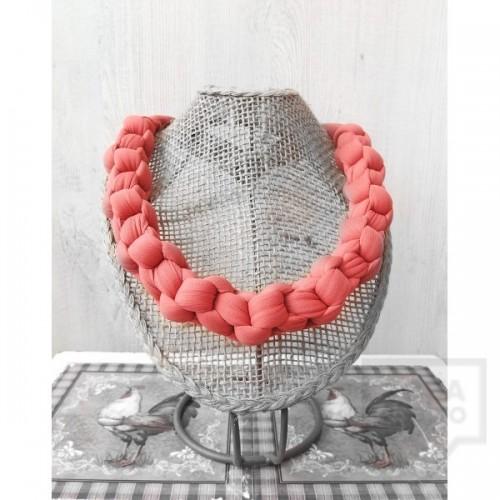 Ръчно изработено колие Nadya's Knit - Сьомга