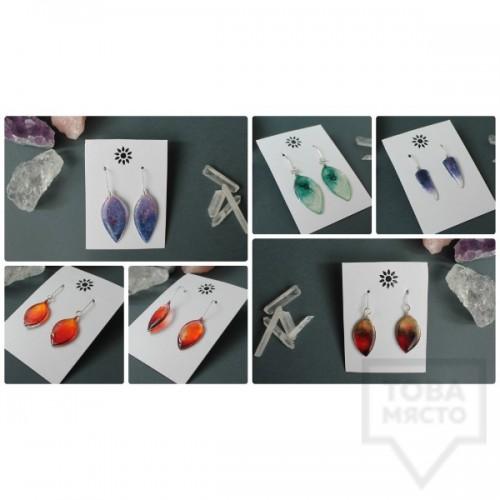 Дизайнерски обеци Nimeria Shop - Seethrough Petals