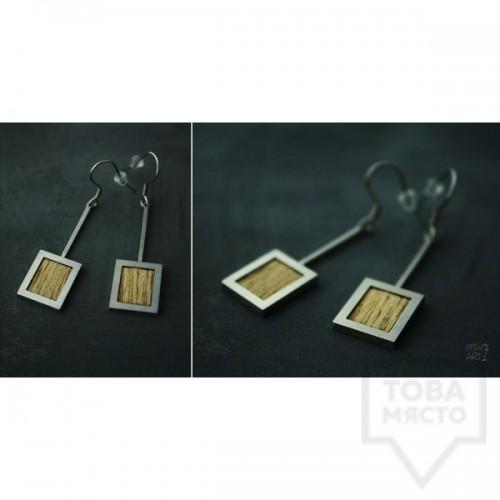 Геометрични обеци  OpenArt7 - Стомана INOX
