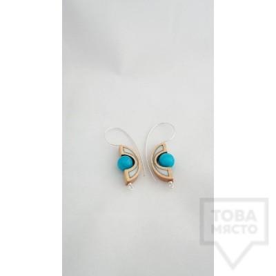 Ръчно изработени обеци Panayotov Handmade - Blue-Stones
