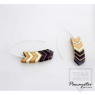 Ръчно изработени обеци Panayotov Handmade - Purple Dig