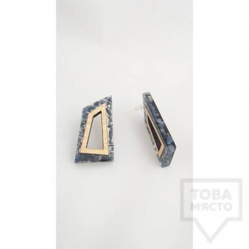 Ръчно изработени обеци Panayotov Handmade - Stone Squares