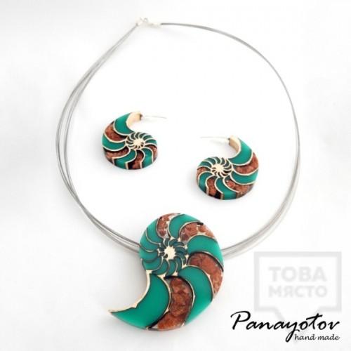 Дизайнерско колие Panayotov Handmade - Seashells