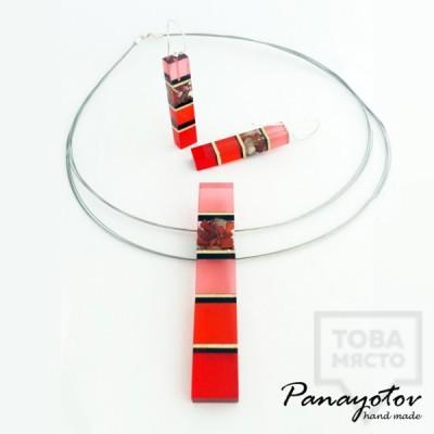 Дизайнерско колие Panayotov Handmade - Rosehips