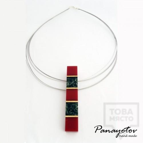 Дизайнерско колие Panayotov Handmade - Red Forest