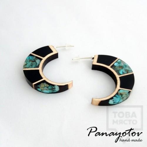 Дизайнерски обеци Panayotov Handmade - Blue Moon