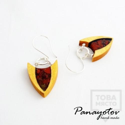 Дизайнерски обеци Panayotov Handmade - Red Sky