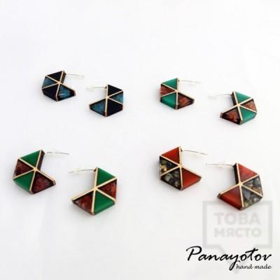 Дизайнерски обеци Panayotov Handmade - Triangle