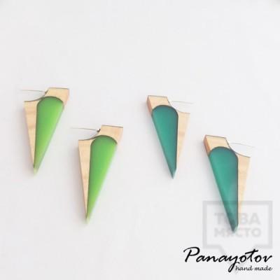 Дизайнерски обеци Panayotov Handmade - Wings