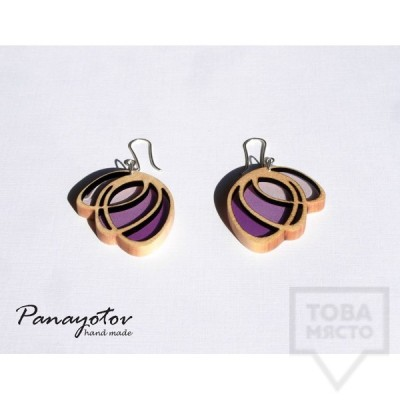 Дизайнерски обеци Panayotov Handmade - lilla butterfly