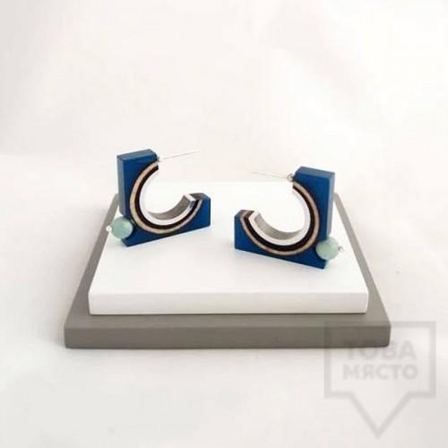 Дамски обеци на винт Panayotov - biscuit blue