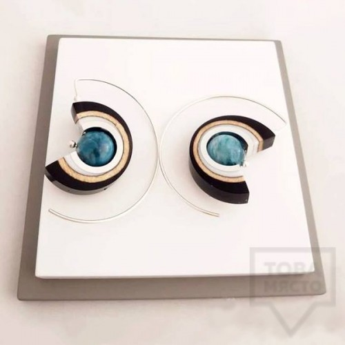 Дамски обеци на винт Panayotov - magic eye dark