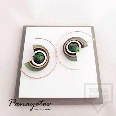 Дамски обеци на винт Panayotov - magic eye flora